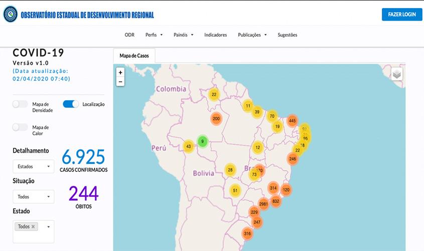 Acompanhe o cenário estatístico do coronavírus pelo Portal do Observatório de Rondônia