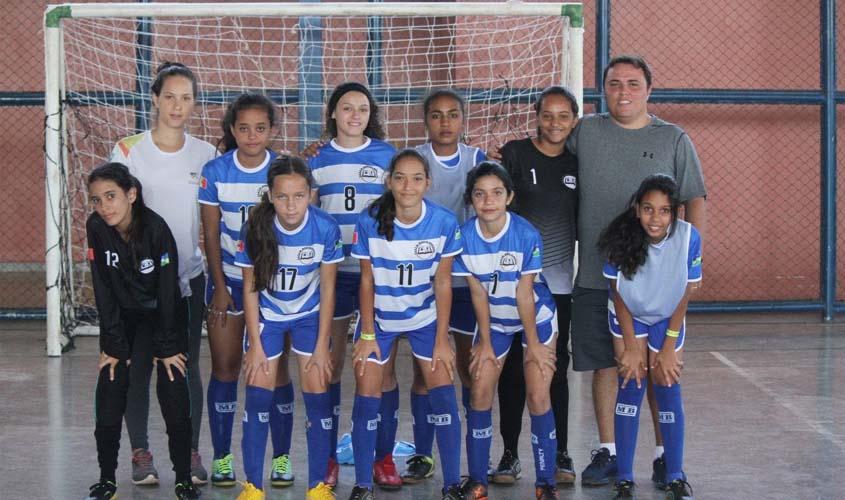 6f40487974 Oito equipes femininas de futsal disputam o Joer na categoria infantil