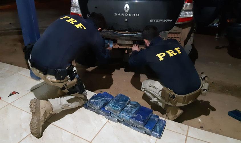 Em Rondônia, PRF prende goiano com 19 quilos de cocaína